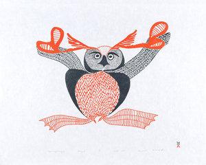 Uppiruqpalliajuk (Transforming To An Owl) by Mayoreak Ashoona